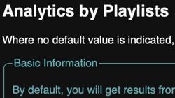 Analyse nach Playlists