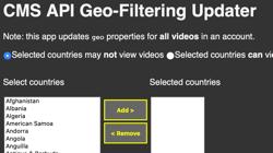 Geo-Eigenschaften aktualisieren